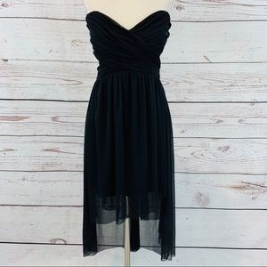 Charlotte Russe high low sheer side beaded dress